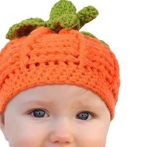 Other - ONE HOUR SALE ❗️ Crochet Pumpkin Beanie